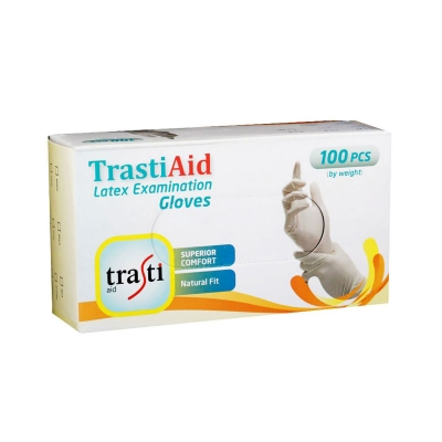 TRASTI Aid Latex Examination Gloves